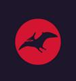 dinosaur pterodactyl pteranodon vector image
