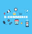 e-commerce online shopping and retail vector image vector image
