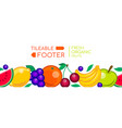 fresh organic fruits - realistic seamless vector image