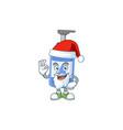 friendly handsanitizer santa with ok finger vector image vector image