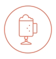 Glass mug with foam line icon vector image