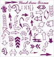 hand draw arrows vector image vector image