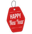 happy new year label or price tag vector image vector image