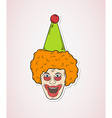 head of the clown vector image vector image