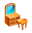 icon dress room table vector image