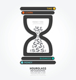 infographics hourglass design diagram vector image vector image