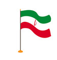 isolated flag of iran vector image