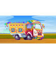 jingle truck indian or pakistan ornate transport vector image vector image