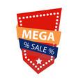 mega sale logo vector image vector image