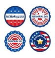 Memorial day color labels set vector image vector image
