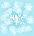 merry christmas handwritten lettering design on vector image vector image