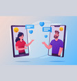 mobile communication concept with people vector image