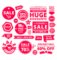 Modern Discount Sale Tags Badges And Ribbons