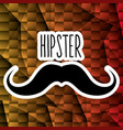 mustache style hipster poster vector image vector image
