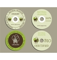 Organic CD DVD templates sign icon Compact vector image vector image