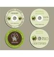 Organic CD DVD templates sign icon Compact vector image