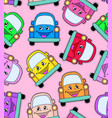 pattern of cute cars vector image