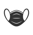 protective face mask black icon on white vector image vector image