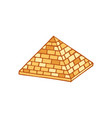 pyramid of ancient egypt of blocks ethnicity vector image