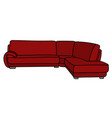 red big couch vector image vector image