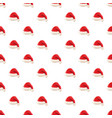 red santa claus hat pattern vector image