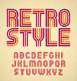 Retro style alphabet vector image vector image
