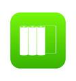 rolls of paper icon digital green vector image vector image