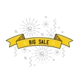 Sale shining banner colorful background in flat vector image vector image