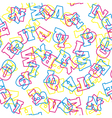 Seamless alphabet pattern vector image vector image