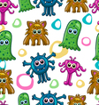 Seamless pattern with cute monster-5 vector image