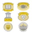 set of badges labels design elements vector image vector image