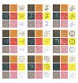 set of flat design elements in vintage style vector image vector image
