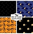 Set of four bats seamless patterns vector image vector image