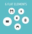 set of laptop icons flat style symbols with floppy vector image