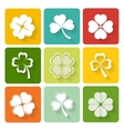 Set of shamrock and clover icons vector image
