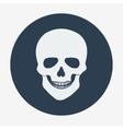 Single flat skull icon vector image vector image