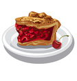 slice of cherry pie vector image vector image