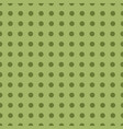 square seamless pattern of green polka dots vector image vector image