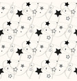 stars seamless pattern the image starry vector image vector image