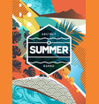 summer abstract background with mixed textures vector image vector image