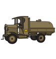 the vintage military tank truck vector image