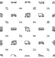 trailer icons pattern seamless white background vector image vector image