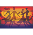 Two Dancing couples vector image vector image