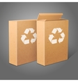 two realistic blank craft paper packages vector image vector image