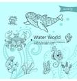 Water wordls vector image vector image