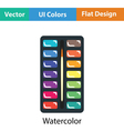 Watercolor paint-box icon vector image vector image
