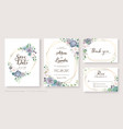 wedding invitation card save date rsvp vector image vector image