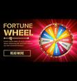 wheel of fortune gamble chance leisure vector image vector image