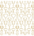 winner cup Seamless pattern vector image vector image