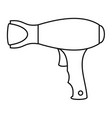woman hair dryer icon outline style vector image vector image